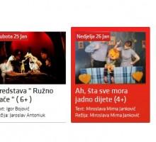 Vodimo vas na dvije predstave Gradskog pozorišta