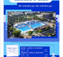 Otvaranje bazena u nedjelju, od naredne sedmice škola plivanja i vaterpola