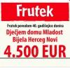Za Dom Mladost 4.5 hiljade eura donacije od Fructala