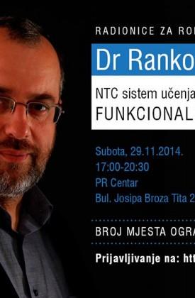 Radionice dr Ranka Rajovića u subotu 29. novembra u Podgorici