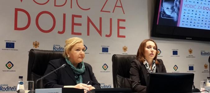 Crna Gora dobila nacionalne kliničke smjernice za dojenje