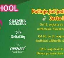 Od subote  Back to School u Delti u Podgorici