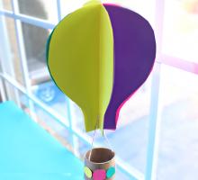 Napravite leteće balone i pretvorite plafon u šareno nebo