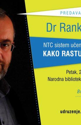 """U petak u Biblioteci predavanje dr Ranka Rajovića """"Kako rastu veliki ljudi"""""""