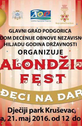 Sjutra Balondžija fest u Dječjem parku Kruševac