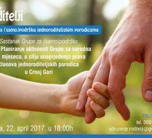 U subotu sastanak Grupe za podršku jednoroditeljskim porodicama