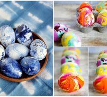 """Kako jednostavno napraviti ovakva """"mramorna"""" jaja"""